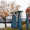 Egyptian Gate - Walnut Street Bridge Connecting Riverfront Park With City Island - Harrisburg PA