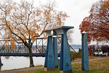 Egyptian Gate - Walnut Street Bridge Connecting Riverfront Park With City Island - Harrisburg PA