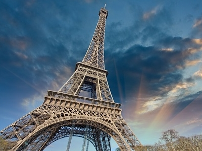 Eiffel Tower - Against Dark Clouds