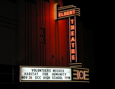 Elberton Ga Night Elbert Theatre