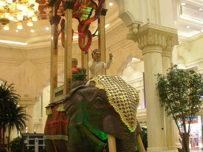 The Reproduction Elephant Clock In The Ibn Battuta Mall.