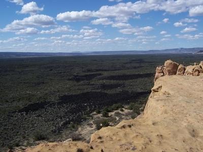 El Malpais Lava Fields And Sandstone Bluff