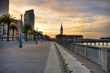 Embarcadero At Sunset