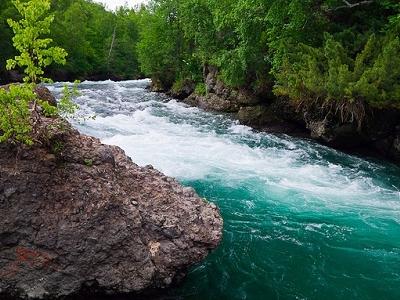 Emerald Kamchatka River Waters