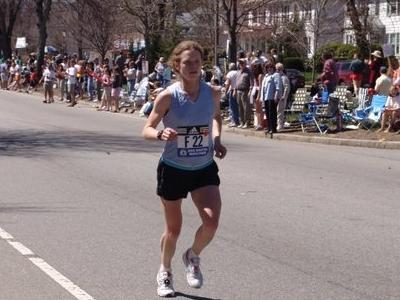 Emily Lavan, Heartbreak Hill, 2005 Boston Marathon