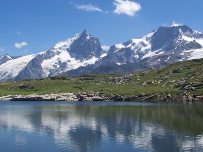 La Meije Seen From The Lac Noir