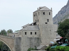 End Of Stari Most In Mostar