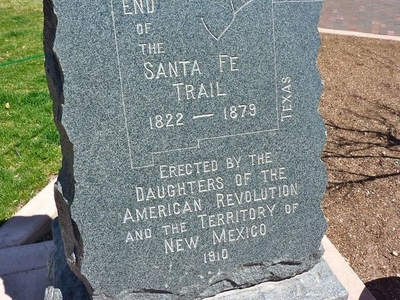End Of The Santa Fe Trail Marker