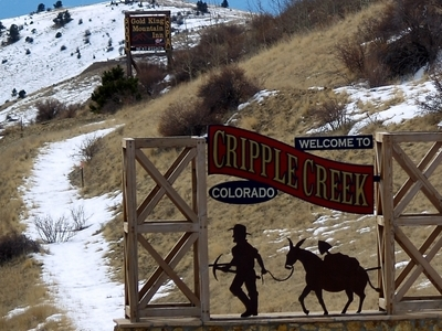 Entering Cripple Creek
