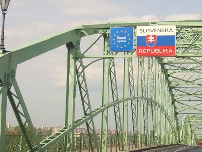 Entering Slovakia Through Bridge