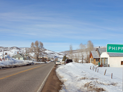 Entering Phippsburg On Colorado State Highway 131