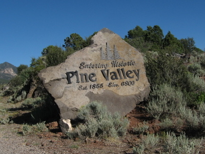 Entering Historic Pine Valley
