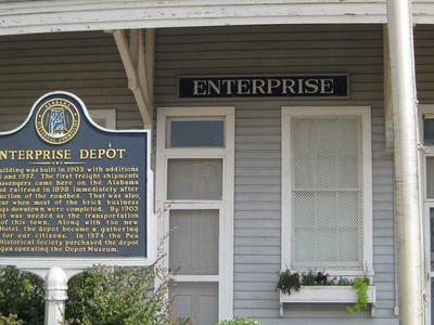 Enterprise Depot With  Alabama Historica Marker