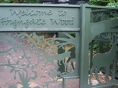 Entrance Gates To Highgate Wood