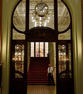 Entrance Of Magyar Nemzeti Bank, Budapest