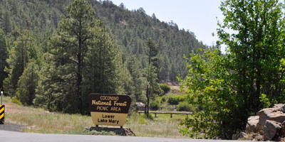Entrance To Lower Lake Mary Picnic Area