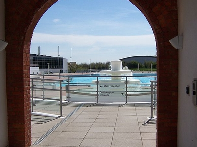 Entrance To The Refurbished Outdoor Pool