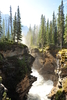 Erosion In Canyon Below Athabasca Falls