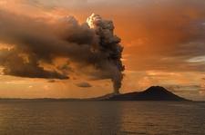 Erupting Tuvurvur - Rabaul - Papua New Guinea