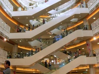 Escalators In Dream Mall