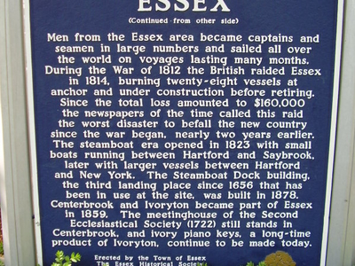 Essex  C T Town Historical Sign 2