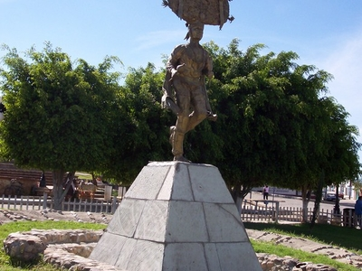 Statue Of Danza De La Pluma Dancer