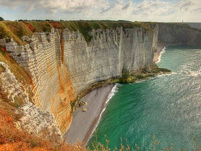 Etretat Cliff Views In Normandy France