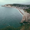 Etretat Cliffs & Town Overview - Normandy France