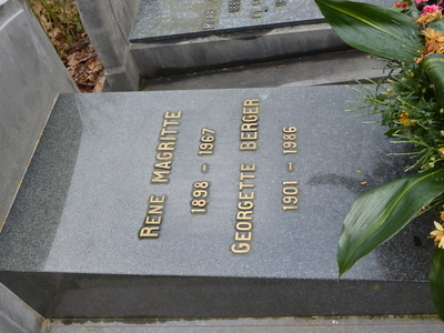 The Tomb Of The Painter Rene Magritte And His Wife