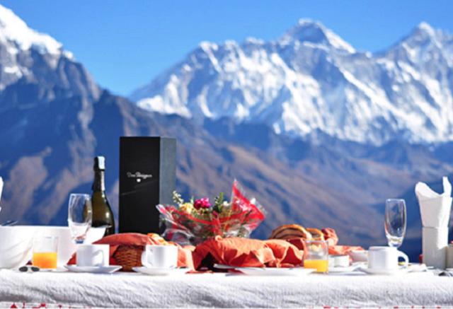 Breakfast at Everest Photos