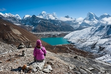 Everest & Gokyo Lake From Renjo La - Nepal Himalayas