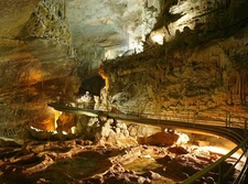 Upper Cave At Jeita With The Walkway
