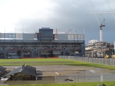 Cranes Building New South Stand