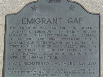 Emigrant Gap Memorial