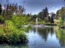 A Pond With Fountain In The Emirgan Park