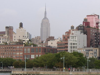 Hudson River Park With Empire State Building