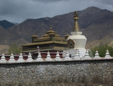 Entering The Impressive Samye Monastery Through Its Protective