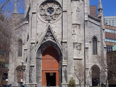 Entrance To Saint Jacques Cathedral Montreal
