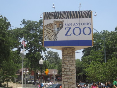 San Antonio Zoo Entrance