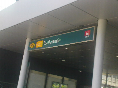 Esplanade MRT Station Singapore Entrance