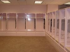 Visitor's Pink Locker Room Inside Stadium