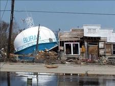 Fallen Water Tower Following Hurricane Katrina New