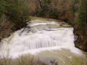 Água do rio que cai