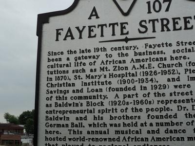 Fayette  Street  Martinsville  Virginia State Historic Marker