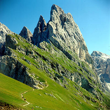 Fermeda - Geisler Group Above Ortisei - Dolomites