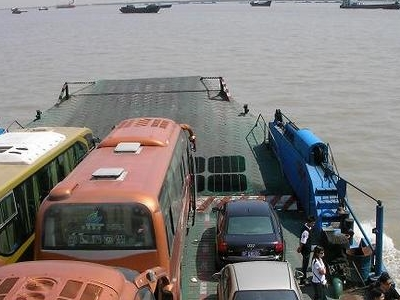 Ferry On The  Yangtze Near  Nantong