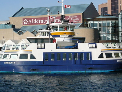 Ferry Running Between Halifax And Dartmouth