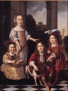 Filenicolaes Maes Portrait Of Four Children Wga13813.jpg