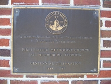First Methodist Church Of St. Petersburg Historic Marker
