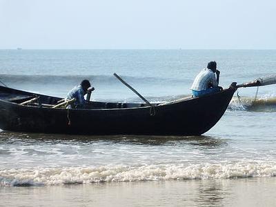 Fisherman At Sea Beach
